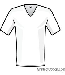 shirtsofcotton wit diep v-hals heren t-shirt 12-pack