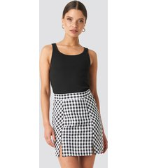 na-kd classic gingham mini skirt - multicolor