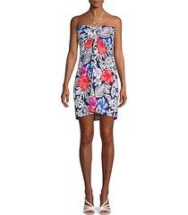 fuego floral short dress