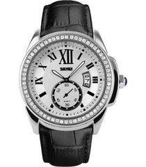 relógio skmei analógico feminino