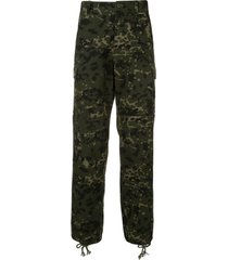 we11done military trousers - green