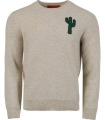 magic cactus cashmere sweater, beige