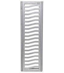 conjunto grelha e porta grelha em alumínio elegance 15x50cm alumínio