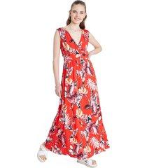 vestido playero rojo curvi