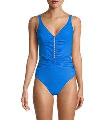 gottex women's cutout one-piece swimsuit - royal - size 36 (6)