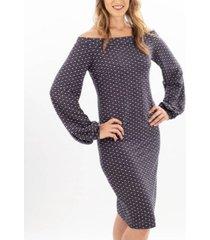 audrey & edgy off-the-shoulder sheath dress