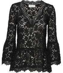 t-shirt 3/4 s blouse lange mouwen zwart rosemunde