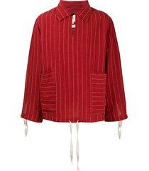 nicholas daley drawstring cuff striped pullover - red