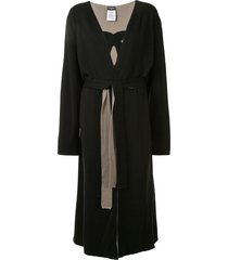 chanel pre-owned cc front opening long sleeve reversible cardigan -
