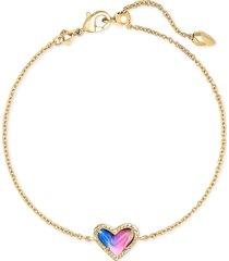 women's kendra scott ari heart pendant bracelet
