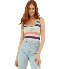 body logo striped bs multicolor guess
