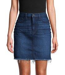 lulu lace-up side denim skirt