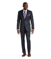 reserve collection tailored fit plaid reda 1865 sustainawool men's suit by jos. a. bank
