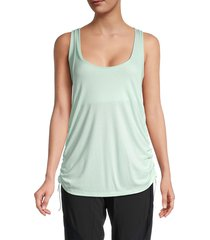 vimmia women's serenity ruched tank top - seaglass - size xs