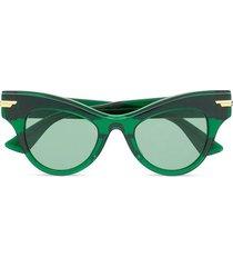 cat eye sunglasses green