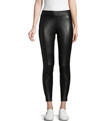faux leather cropped leggings