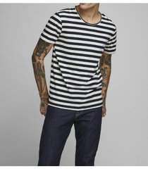 jack & jones men's striped cotton t-shirt