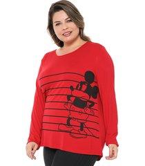 blusa cativa disney plus mickey vermelha