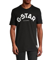 g-star raw men's graphic cotton tee - black - size l