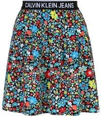 logo tape skirt