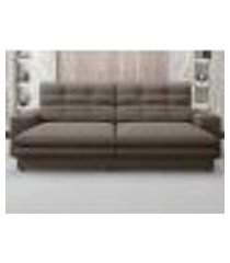 sofá pegasus 2,30m assento retrátil e reclinável velosuede marrom - netsofas