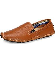 uomo doug scarpe mocassini in pelle con cucito slip-on con protezione per dita