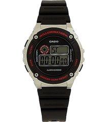 reloj negro-plata casio