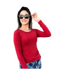 blusa segunda pele vermelho