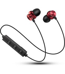 audifonos, auriculares bluetooth inalámbricos con micrófono-rojo