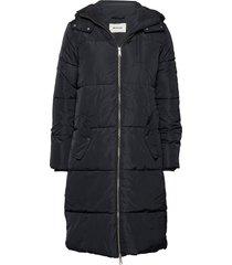 phoebe jacket gevoerde lange jas zwart modström