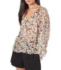 joie women's maiza floral blouse - ecru - size xs
