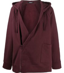 undercover oversized wrap-style hoodie - red