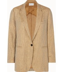 forte forte giacca diagonal in misto lino