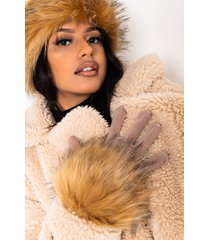 akira winter is coming glove with faux fur wrists