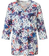 shirt 100% katoen bloemenprint van green cotton blauw