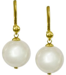 majorica 18k vermeil imitation pearl drop earrings
