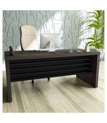 mesa escrivaninha artany executivo 180.5cm terrano e preto