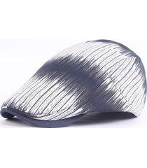 berretto con visiera in avanti per berretto da baseball con berretto a righe in cotone a righe da donna