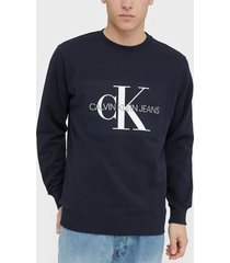 calvin klein jeans basic monogram logo sweat tröjor night sky