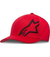 gorro corp shift 2 rojo/negro alpinestars