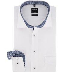 mouwlengte 7 overhemd olymp wit strijkvrij