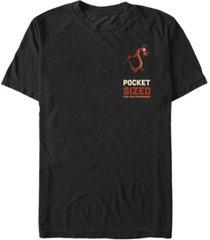 fifth sun disney princesses men's mulan mushu pocket sized short sleeve t-shirt