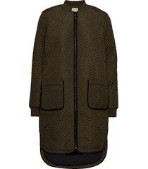 kamica quilted coat doorgestikte jas groen kaffe