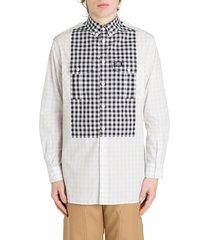 burberry gingham bib shirt