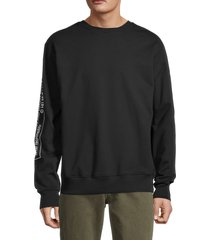 helmut lang men's logo cotton sweatshirt - black - size l