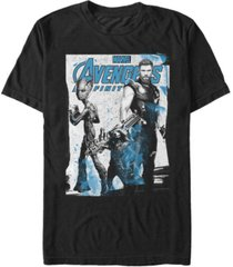 marvel men's avengers infinity war fighting three poster short sleeve t-shirt