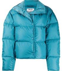 acne studios short puffer jacket - blue