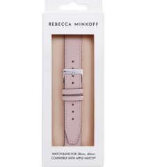 rebecca minkoff womens leather apple watch strap