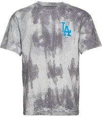 la dodgers tie dye graphic t-shirt t-shirts short-sleeved grå fanatics