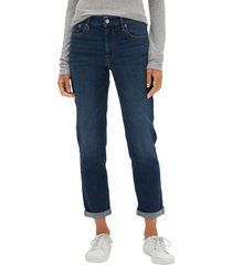 jeans girlfriend dark indigo azul gap